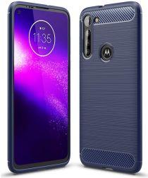 Motorola Moto G8 Power Hoesje Geborsteld TPU Blauw