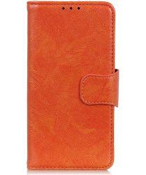Motorola Moto G8 Power Portemonnee Hoesje Splitleer Oranje