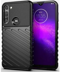 Motorola Moto G8 Power Twill Thunder Texture Back Cover Zwart