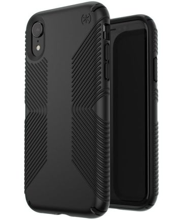 Speck Presidio Grip 2 Apple iPhone XR Hoesje Zwart Shockproof Hoesjes