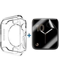 Apple Watch 44MM Hoesje Flexibel TPU met Screenprotector Transparant