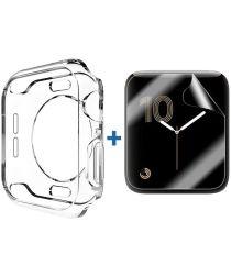 Apple Watch 40MM Hoesje Flexibel TPU met Screenprotector Transparant