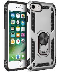 Apple iPhone SE (2020) / 8 / 7 Draaibaar Stand Hoesje TPU Zilver