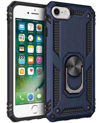 Apple iPhone SE (2020) / 8 / 7 Draaibaar Stand Hoesje TPU Donker Blauw