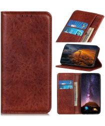 Samsung Galaxy A21s Crazy Horse Leather Wallet Case Bruin