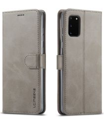 LC.IMEEKE Samsung Galaxy A41 Portemonnee Stand Hoesje Grijs