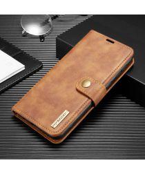 Samsung Galaxy M21 2-in-1 Bookcase en Back Cover Hoesje Bruin