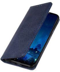 Sony Xperia L4 Retro Stijl Kunstleren Portemonnee Hoesje Blaw