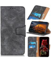 LG K61 Hoesje Wallet Stand Case Grijs