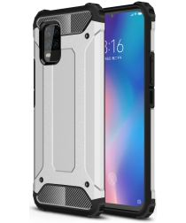 Xiaomi 10 Lite 5G Hoesje Shock Proof Hybride Back Cover Zilver
