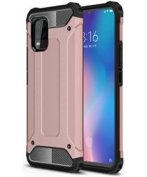 Xiaomi Mi 10 Lite Hoesje Shock Proof Hybride Back Cover Rose Goud