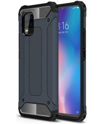 Xiaomi Mi 10 Lite Hoesje Shock Proof Hybride Back Cover Blauw