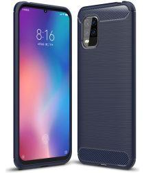 Xiaomi Mi 10 Lite Hoesje Geborsteld TPU Flexibele Back Cover Blauw