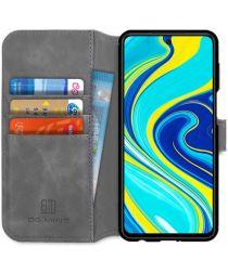 DG Ming Retro Portemonnee Xiaomi Redmi Note 9S / 9 Pro Hoesje Grijs