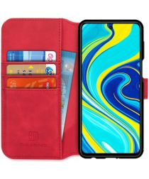 DG Ming Retro Portemonnee Xiaomi Redmi Note 9S / 9 Pro Hoesje Rood
