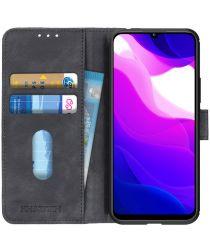 KHAZNEH Xiaomi MI 10 Lite 5G Hoesje Retro Wallet Book Case Zwart