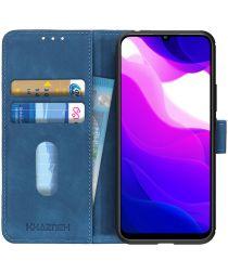 KHAZNEH Xiaomi MI 10 Lite 5G Hoesje Retro Wallet Book Case Blauw