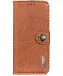 Oppo Reno3 Pro Hoesje Vintage Wallet Bruin