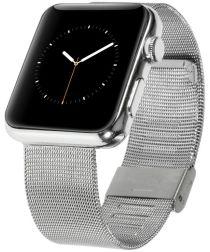 Apple Watch 44MM / 42MM Bandje Roestvrij Milanese Staal Zilver
