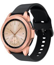 Universeel Smartwatch 20MM Bandje Siliconen met Gespsluiting Zwart