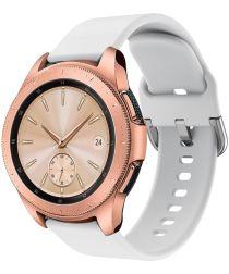 Universeel Smartwatch 20MM Bandje Siliconen met Gespsluiting Wit