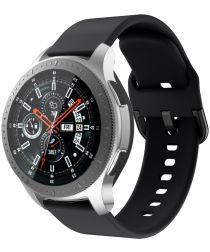 Universeel Smartwatch 22MM Bandje Siliconen met Gespsluiting Zwart