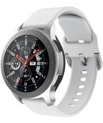Universeel Smartwatch 22MM Bandje Siliconen met Gespsluiting Wit