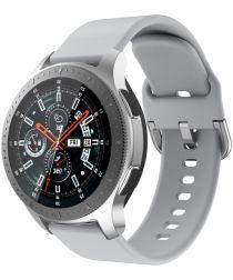 Universeel Smartwatch 22MM Bandje Siliconen met Gespsluiting Grijs