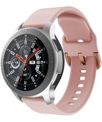 Universeel Smartwatch 22MM Bandje Siliconen met Gespsluiting Roze