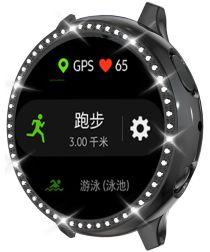 Samsung Watch Active 2 44MM Hoesje Hard Plastic met Diamantjes Zwart