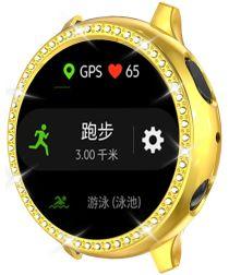 Samsung Watch Active 2 44MM Hoesje Hard Plastic met Diamantjes Goud