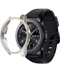 Samsung Galaxy Watch 46MM Hoesje Hard Plastic met Diamantjes Zilver