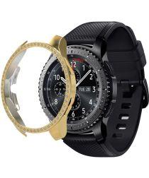 Samsung Galaxy Watch 46MM Hoesje Hard Plastic met Diamantjes Goud