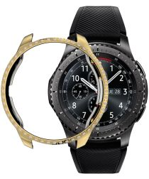 Samsung Galaxy Watch 42MM Hoesje Hard Plastic met Diamantjes Goud