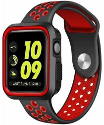 Apple Watch 40MM / 38MM Bandje Siliconen met Ventilatiegaten Rood