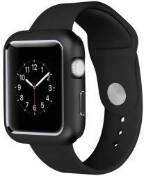 Apple Watch 44MM / 42MM Hoesje Metaal Frame met Magneetsluiting Zwart
