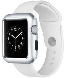 Apple Watch 44MM / 42MM Hoesje Metaal Frame met Magneetsluiting Zilver