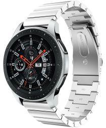 Universeel Smartwatch 22MM Bandje Luxe Schakels Roestvrij Staal Zilver