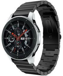 Universeel Smartwatch 22MM Bandje Luxe Schakels Roestvrij Staal Zwart