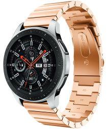 Universeel Smartwatch 22MM Bandje Luxe Schakels Roestvrij Staal Roze