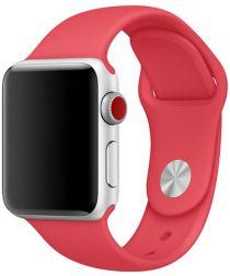 Apple Watch 44MM / 42MM Bandje Siliconen met Drukknoop Sluiting Rood