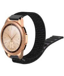 Universeel Smartwatch 20MM Bandje Nylon met Klittenband Zwart