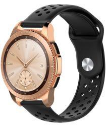 Universeel Smartwatch 20MM Bandje Siliconen met Ventilatiegaten Zwart