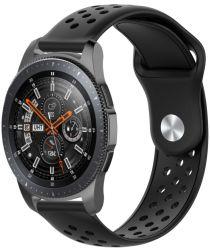 Universeel Smartwatch 22MM Bandje Siliconen met Ventilatiegaten Zwart