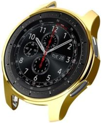 Samsung Galaxy Watch 46MM / Gear S3 Hoesje Flexibel TPU Bumper Goud