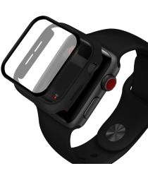 Apple Watch 42MM Hoesje Hard Plastic Bumper met Tempered Glass Zwart