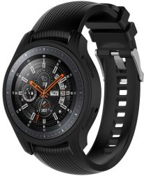 Samsung Galaxy Watch 46MM / Gear S3 Hoesje Flexibel Siliconen Zwart