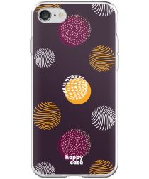 HappyCase Apple iPhone 8 Flexibel TPU Hoesje Cirkels Print
