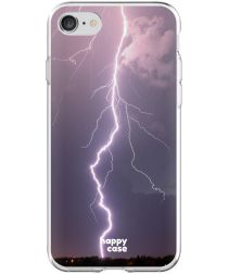 HappyCase Apple iPhone 8 Flexibel TPU Hoesje Bliksem Print