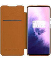Nillkin Qin Book OnePlus 7T Pro Hoesje Bruin